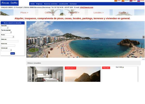 La teva pròpia web amb tots els teus immobles i cercador